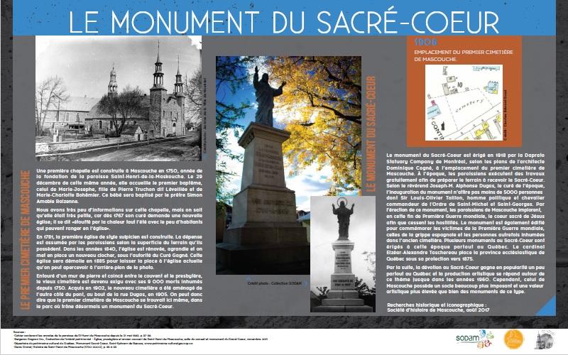 Panneau monument Sacré-Coeur